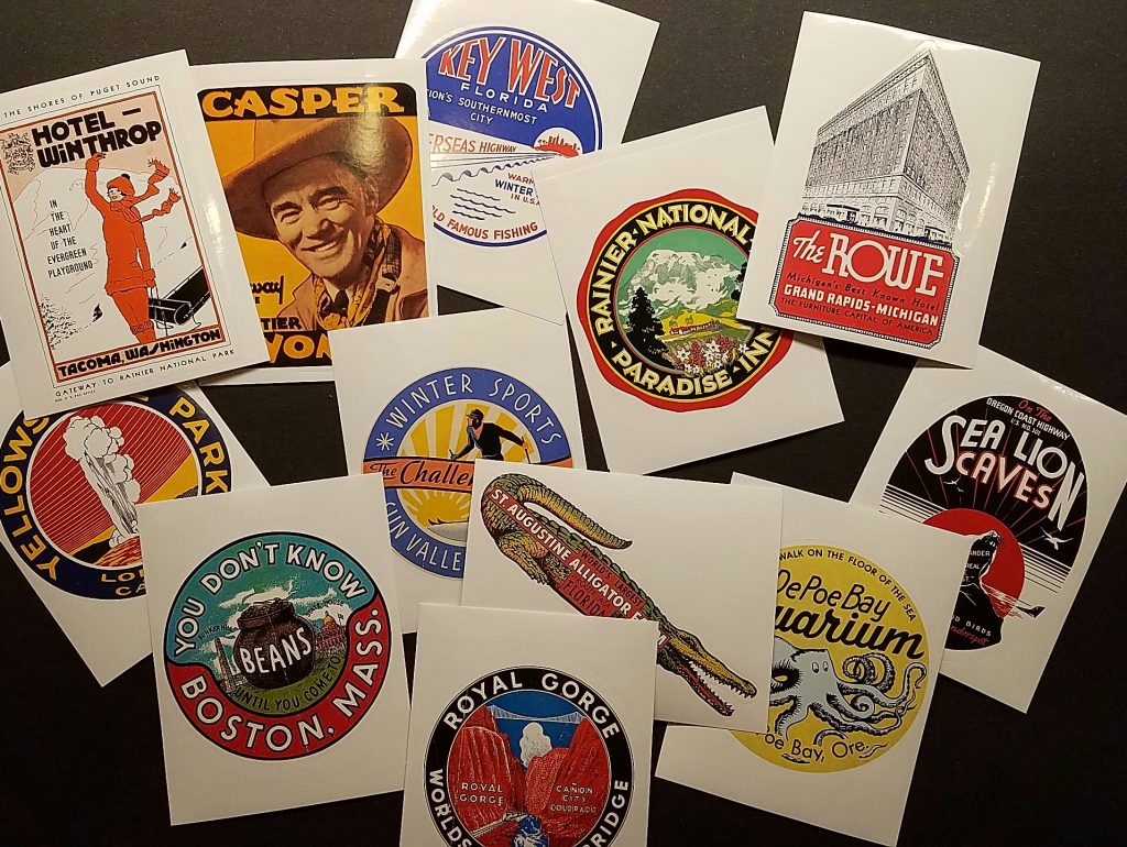 The project was inspired by these travel labels.