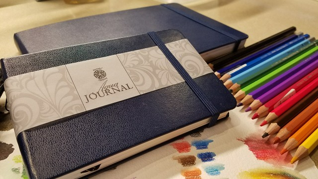 Pentalic Aqua journals in two sizes