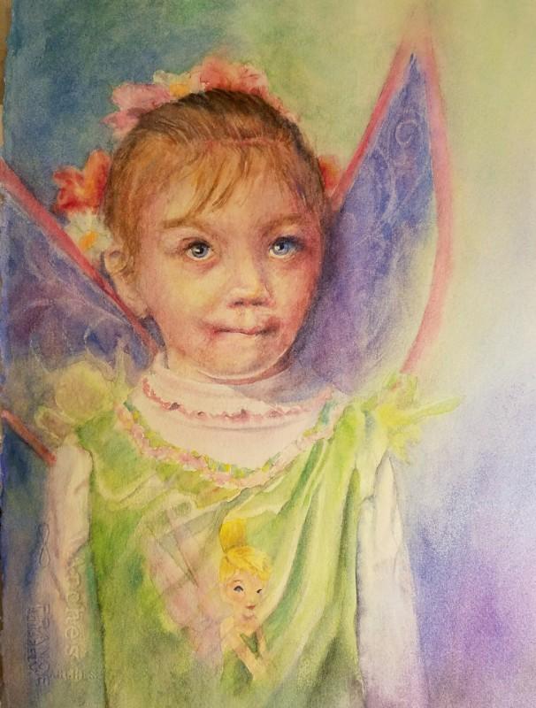"Finished portrait of ""Christine"""
